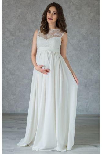 Свадебное платье с кружевом для беременных в Киеве - Фото 1