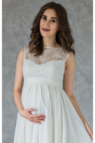 Свадебное платье с кружевом для беременных в Киеве - Фото 2