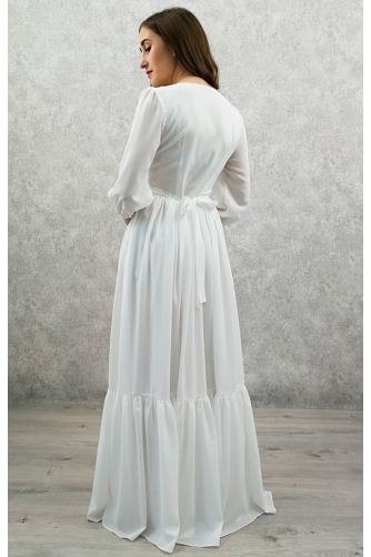 Свадебное платье с жемчужными пуговичками в Киеве - Фото 2