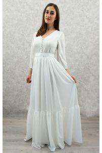 Свадебное платье с жемчужными пуговичками фото