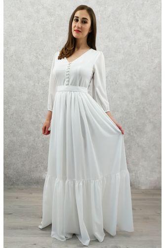 Свадебное платье с жемчужными пуговичками в Киеве - Фото 1