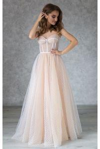 Свадебное платье в горошек на корсете фото