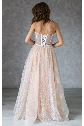 Свадебное платье в горошек на корсете в Киеве - Фото 4