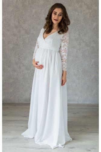 Свадебное платье в пол для беременных с запахом в Киеве - Фото 1