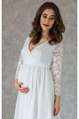 Свадебное платье в пол для беременных с запахом в Киеве - Фото 2