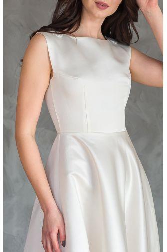 Атласное свадебное платье с кружевной спиной в Киеве - Фото 4
