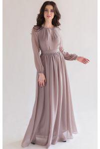 Элегантное платье с длинным рукавом фото