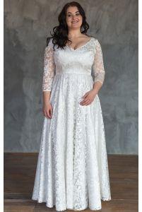 Элегантное свадебное платье для полных фото