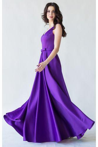 Фиолетовое вечернее платье атласное в Киеве - Фото 4