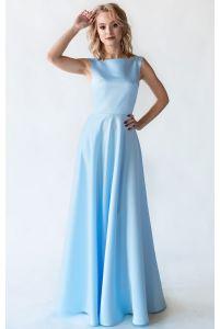 Голубое платье на выпускной фото