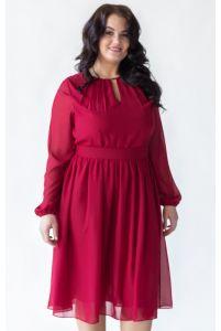 Коктейльное платье с рукавом для полных фото