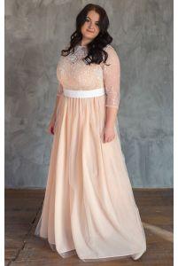 Красивое свадебное платье для полных фото
