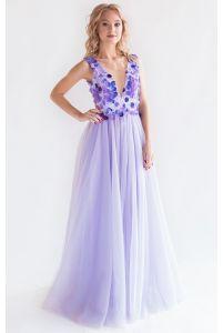 Лавандовое платье на выпускной фото