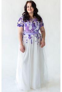 Необычное свадебное платье для полных фото