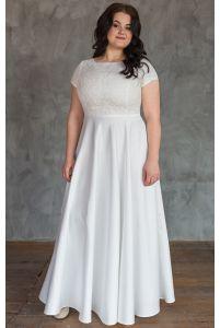 Нежное свадебное платье для полных фото