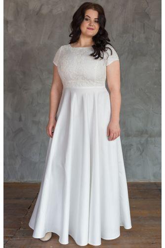 Нежное свадебное платье для полных в Киеве - Фото 1
