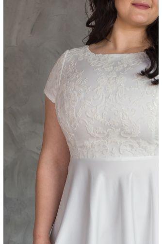 Нежное свадебное платье для полных в Киеве - Фото 2