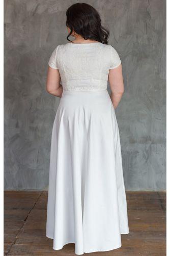 Нежное свадебное платье для полных в Киеве - Фото 3