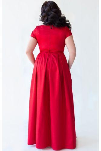 Платье А-силуэта для полных красное в Киеве - Фото 3