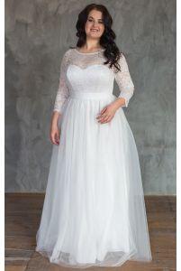 Пышное свадебное платье для полных фото