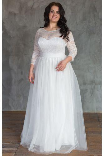 Пышное свадебное платье для полных в Киеве - Фото 1