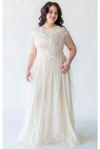 Шикарное свадебное платье для полных фото
