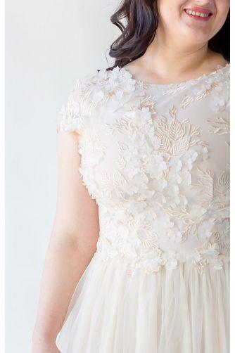 Шикарное свадебное платье для полных в Киеве - Фото 2