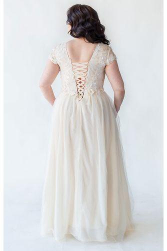 Шикарное свадебное платье для полных в Киеве - Фото 4