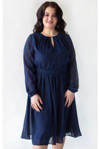 Стильное платье с рукавом для полных фото