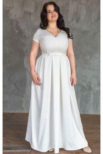 Свадебное платье А-силуэта для полных фото