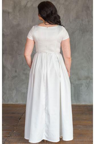 Свадебное платье А-силуэта для полных в Киеве - Фото 3