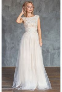 Свадебное платье цвета шампань фото