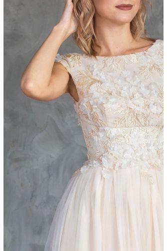Свадебное платье цвета шампань в Киеве - Фото 2