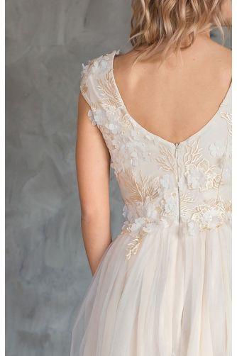 Свадебное платье цвета шампань в Киеве - Фото 3