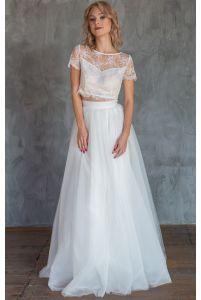 Свадебное платье комплект с юбкой солнце фото