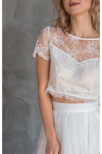 Свадебное платье комплект с юбкой солнце в Киеве - Фото 2