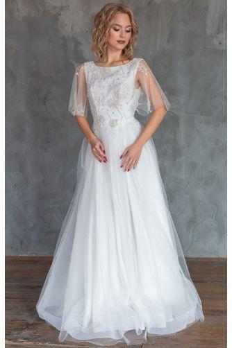 Свадебное платье с вышивкой цветами в Киеве - Фото 1