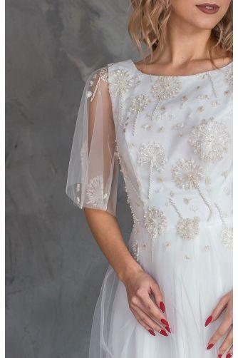 Свадебное платье с вышивкой цветами в Киеве - Фото 2