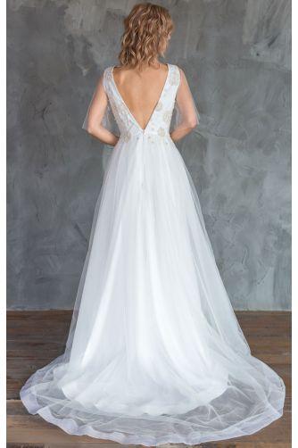 Свадебное платье с вышивкой цветами в Киеве - Фото 5