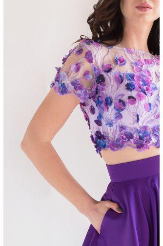 Топ и юбка на выпускной фиолетовые в Киеве - Фото 2