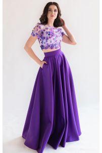 Топ и юбка на выпускной фиолетовые фото