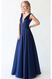 Вечернее платье с открытой спиной фото
