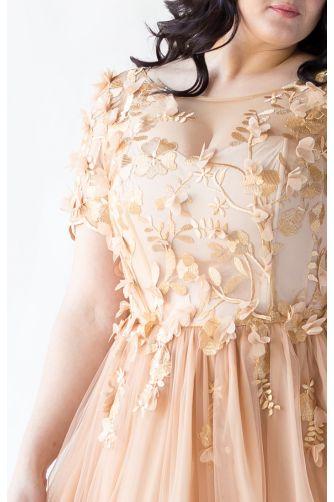 Золотое вечернее платье для полных в Киеве - Фото 2