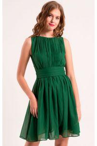Коктейльное платье изумрудное фото