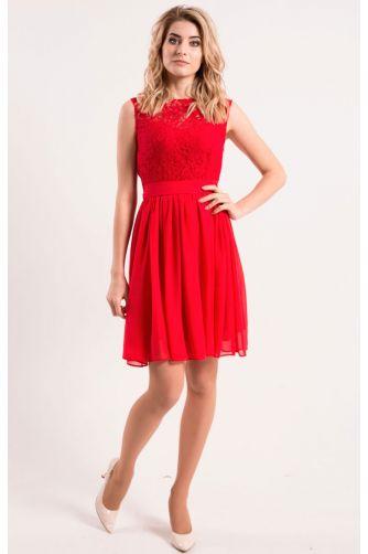 Коктейльное платье красного цвета в Киеве - Фото 2