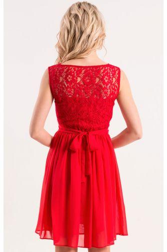 Коктейльное платье красного цвета в Киеве - Фото 3