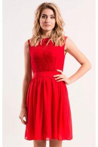 Коктейльное платье красного цвета фото