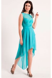 Коктейльное платье с асимметричной юбкой фото