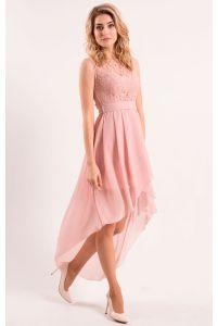 Коктейльное платье с удлиненной юбкой фото