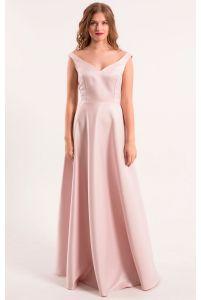 Атласное платье пудра фото
